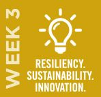 Resiliency. Sustainability. Innovation. - Week 3 // May 18–24, 2020