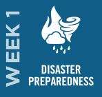 Disaster Preparedness - Week 1 // May 1–10, 2020